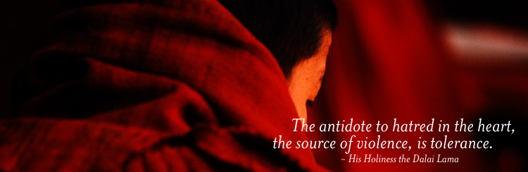 The antidote to hatred in the heart, the source of violence, is tolerance.  - His Holiness the Dalai Lama